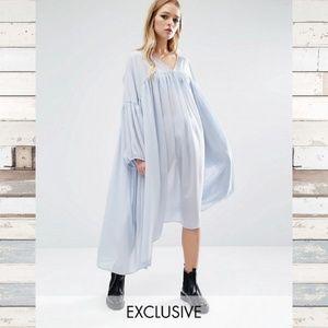 ASOS Reclaimed Vintage Angel Sleeve Dress